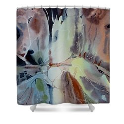 Web Shower Curtain by Donna Acheson-Juillet