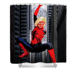 Web Swinger Shower Curtain