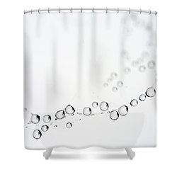 Shower Curtain featuring the photograph Web Water Baubles by Rebecca Cozart