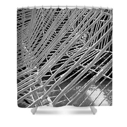 Shower Curtain featuring the photograph Web Wired by Cathy Dee Janes