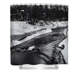Weber Creek Shower Curtain by Dan Hefle