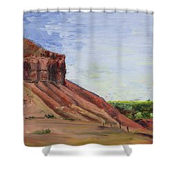Weber Sandstone Shower Curtain