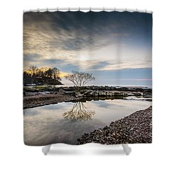 Webster Ny Lake View Shower Curtain