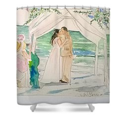 Wedding At Naples, Florida Shower Curtain