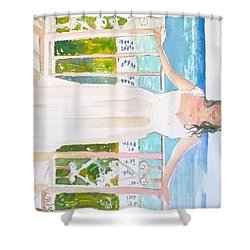 Wedding At The Ritz In Naples Shower Curtain