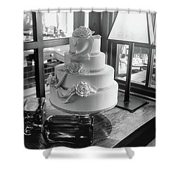 Wedding Cake Bw Series 0956 Shower Curtain