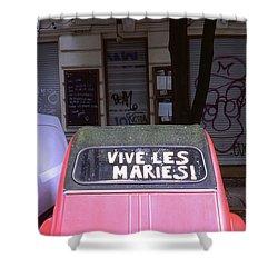 Wedding Car Shower Curtain