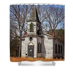 Shower Curtain featuring the photograph Wedding Chapel by Alan Raasch