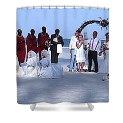 Wedding Complete Panoramic Kenya Beach Shower Curtain