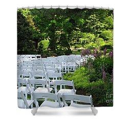 Wedding Day Shower Curtain by Michael Krek