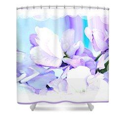 Wedding Flower Pedals Shower Curtain by Marsha Heiken