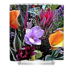 Wedding Flowers Shower Curtain by Brian Chase