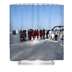 Wedding In The Afternoon Shadow Shower Curtain