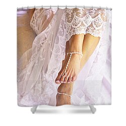 Shower Curtain featuring the photograph Wedding by Marat Essex