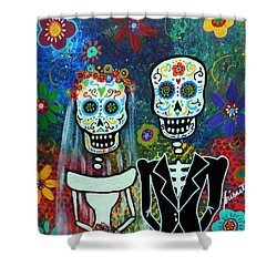 Wedding Muertos Shower Curtain