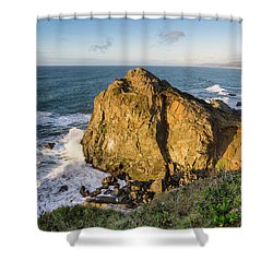 Wedding Rock Evening Light Shower Curtain