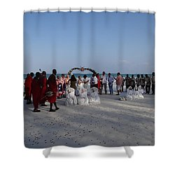 wedding with Maasai singers Shower Curtain