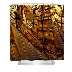 Shower Curtain featuring the photograph Wee Sails by Cameron Wood