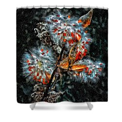 Weed Galaxy Painted Version  Shower Curtain by Steve Harrington