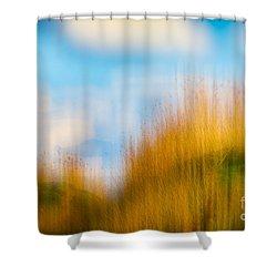 Weeds Under A Soft Blue Sky Shower Curtain
