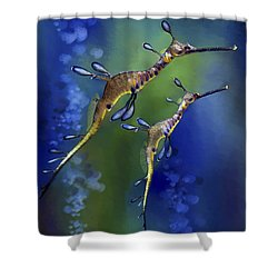 Weedy Sea Dragon Shower Curtain