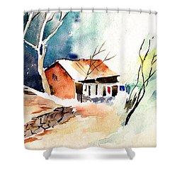 Weekend House Shower Curtain by Anil Nene
