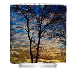 Weekend Sunrise In Minnesota Shower Curtain