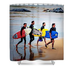 Weekend Warriors Shower Curtain by Wallaroo Images