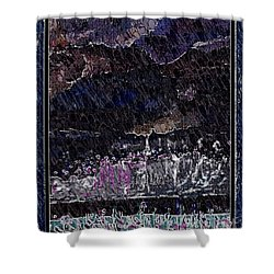 Weekly Market In The Hill In The Evening Shower Curtain