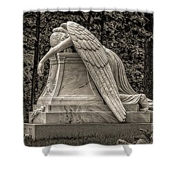 Weeping Angel - Sepia Shower Curtain