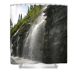 Weeping Wall Shower Curtain by Diane Greco-Lesser