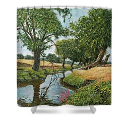 Weeping Willows At Beverley Brook Shower Curtain