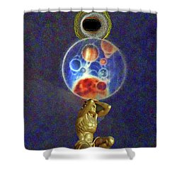 Weight Of The World Shower Curtain by Lyric Lucas