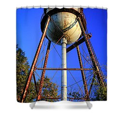 Shower Curtain featuring the photograph Weighty Water Cotton Mill  Water Tower Art by Reid Callaway