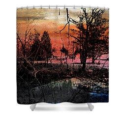 Weir Shower Curtain by R Kyllo