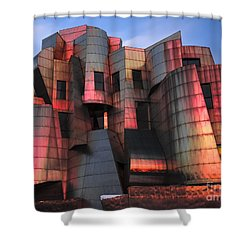 Weisman Art Museum At Sunset Shower Curtain by Craig Hinton