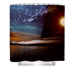 Welcome Beach 2015 2 Shower Curtain by Elaine Hunter