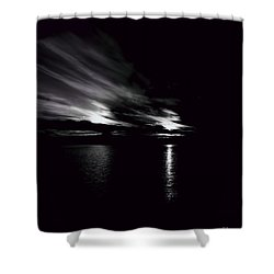 Welcome Beach Night Sky Shower Curtain by Elaine Hunter