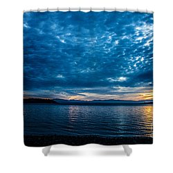Welcome Beach Stormy Sky 2 Shower Curtain by Elaine Hunter