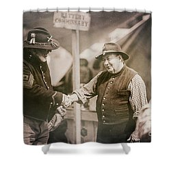 Welcome Doctor Shower Curtain by Randall Cogle