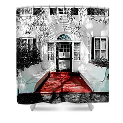 Shower Curtain featuring the photograph Welcome by Greg Fortier