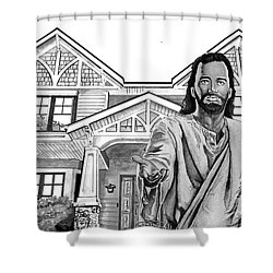 Welcome Home Shower Curtain by Bill Richards