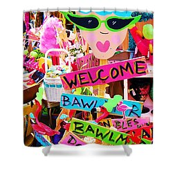 Welcome Hon Shower Curtain by Debbi Granruth