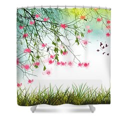 Welcome Spring 2016 Shower Curtain