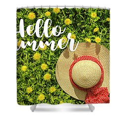 Shower Curtain featuring the photograph Welcome Summer by Teri Virbickis