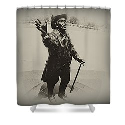 Welcome To America  Shower Curtain by Bill Cannon