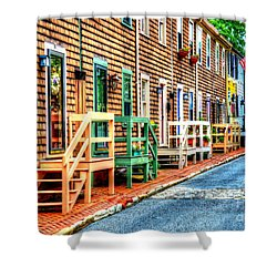 Welcome To Annapolis Shower Curtain by Debbi Granruth