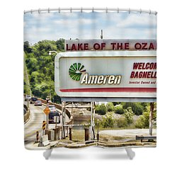 Welcome To Bagnell Dam Shower Curtain