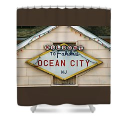 Welcome To Fabulous Ocean City N J Shower Curtain