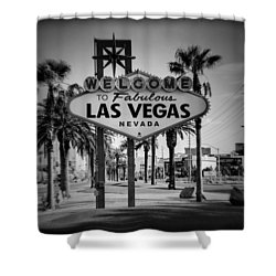 Welcome To Las Vegas Series Holga Black And White Shower Curtain